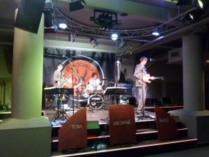 Soundcheck in Köln, NRW, im Redback mit TB Partyband