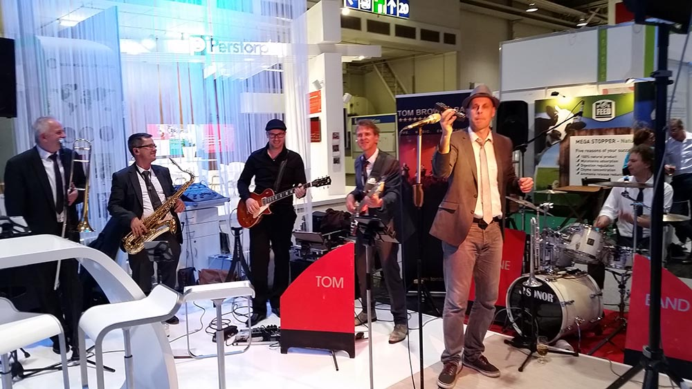 Partyband rockt Messeparty DSM Hannover