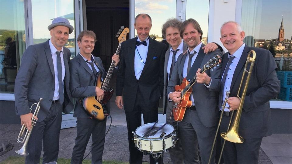 TOm Browne Partyband NRW mit Friedrich Merz CDU in Bonn